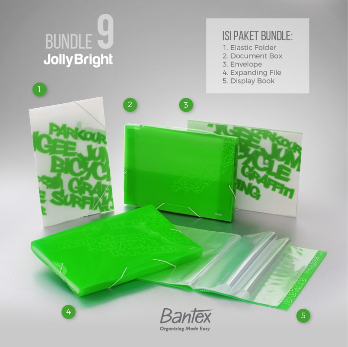 Jual Bantex Jolly Bright Grass Green Bundle 9 Harga Promo Terbaru
