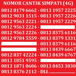 Telkomsel Simpati Nomor Cantik 0813 16 160160 Daftar Update Source Kartu Perdana Nomor .