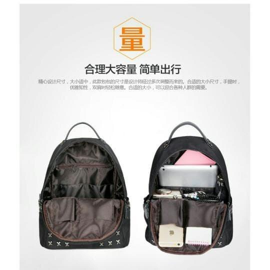 Tas Ransel Wanita Import Fashion Artis Korea Murah Warna Hitam SW27