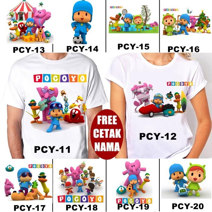 harga Kaos / baju pocoyo dewasa banyak motif (free nama / tulisan) Tokopedia.com