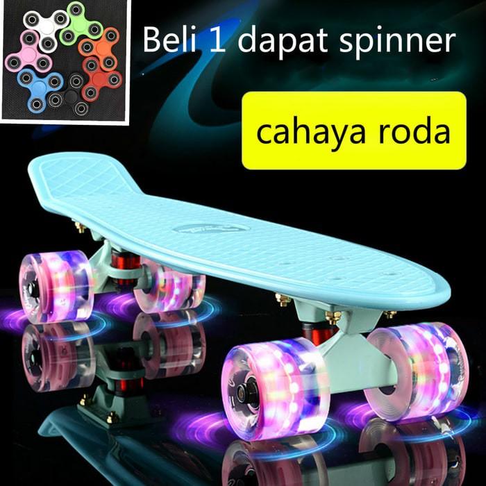 harga Papan skateboard pu roda led dengan cahaya anak deck skateboard Tokopedia.com