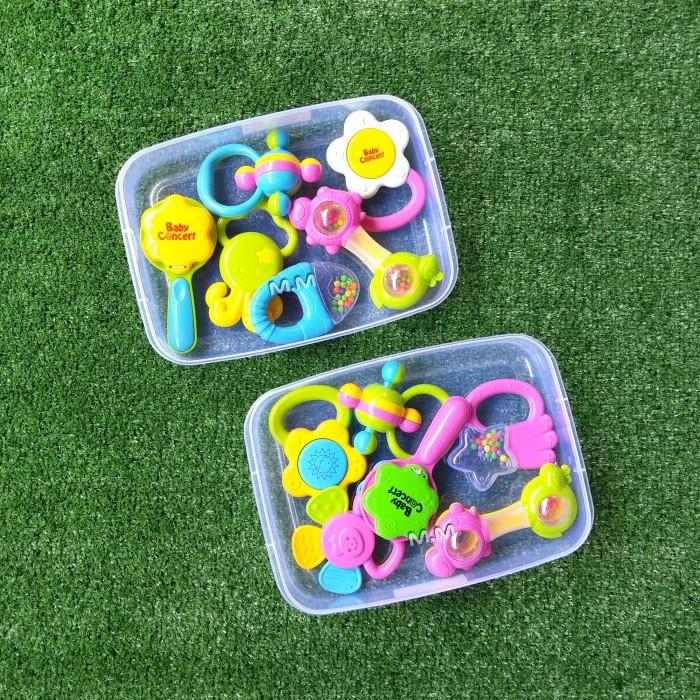 Baby Toys Rattle Bayi / Mainan Krincingan Bayi Set / Rattle Playset