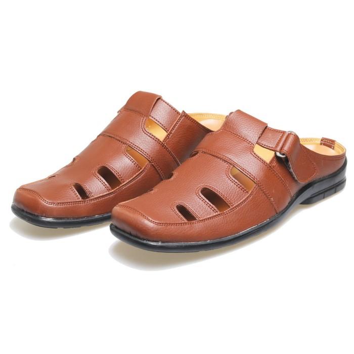 sandal bustong pria casual formal bsm  sepatu sandal kulit harga murah e0142993aa