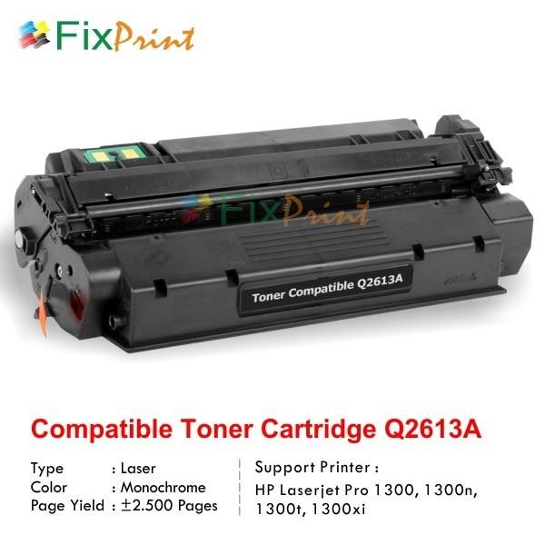 6 PK Q2613A 13A Black Toner Cartridge For HP LaserJet 1300 1300n 1300xi Printer