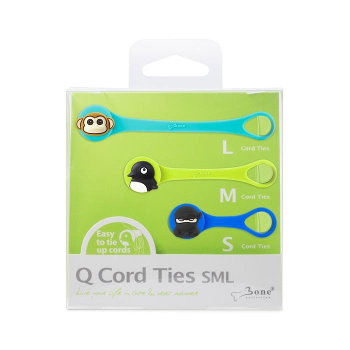 bone collection q cord ties - sml set  e