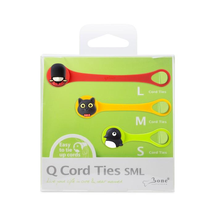bone collection q cord ties - sml set  c