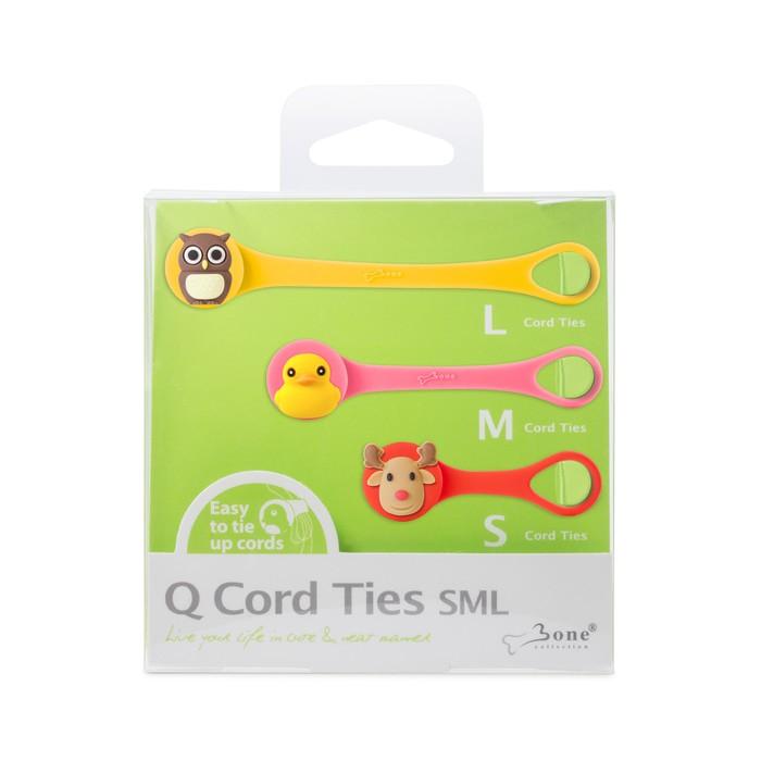 bone collection q cord ties - sml set  d
