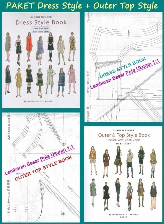 harga Dress style book + outer top style book (pola pakaian ukuran s-m-l) Tokopedia.com