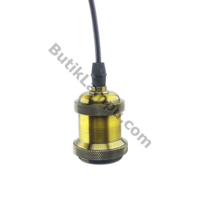 Foto Produk Fiting Kabel Lampu Gantung Edison Retro Hias Antic Bronze dari butiklampu