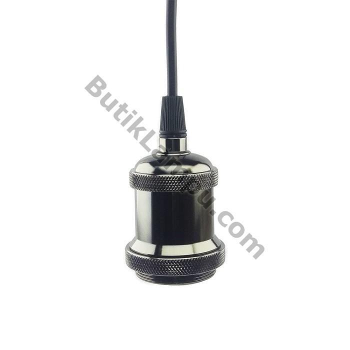 Foto Produk Fiting Kabel Lampu Gantung Edison Retro Hias Black dari butiklampu