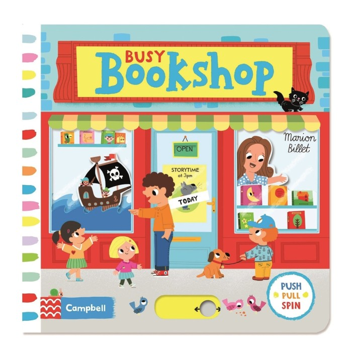 harga Busy bookshop - busy book series campbell (push pull slide) Tokopedia.com