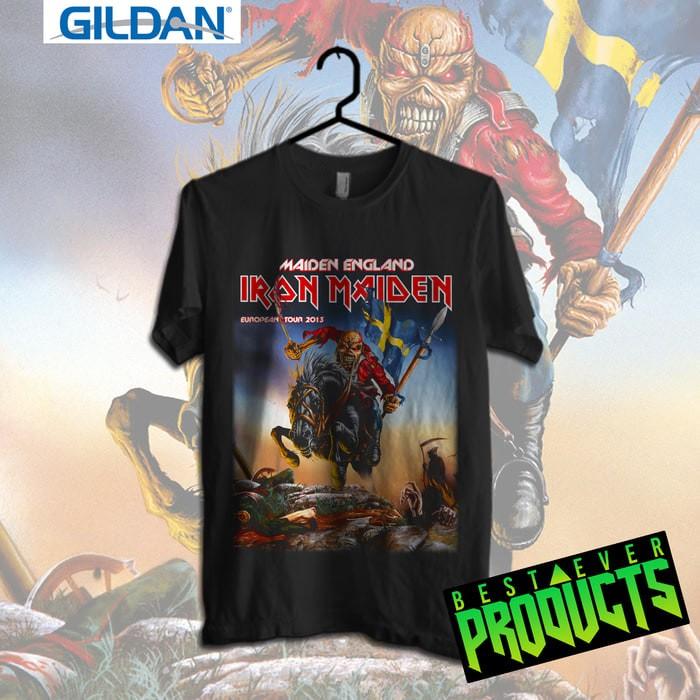 Gildan Custom Tshirt Iron Maiden European Tour 2013