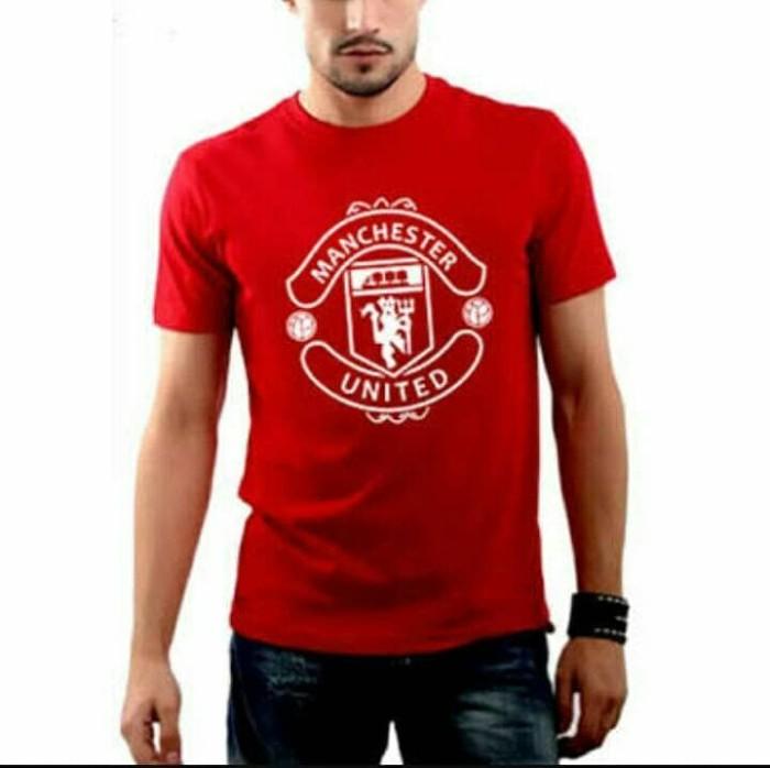harga T shirt kaos tshirt mu bola merah red devil murah oblong merah laki Tokopedia.com
