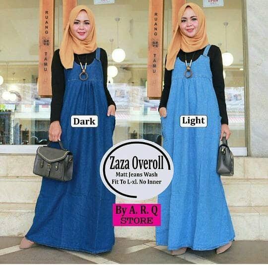 f81a25c9089 ... harga Zazha overoll   overall jeans   rok kodok wanita   maxy dress  Tokopedia.com