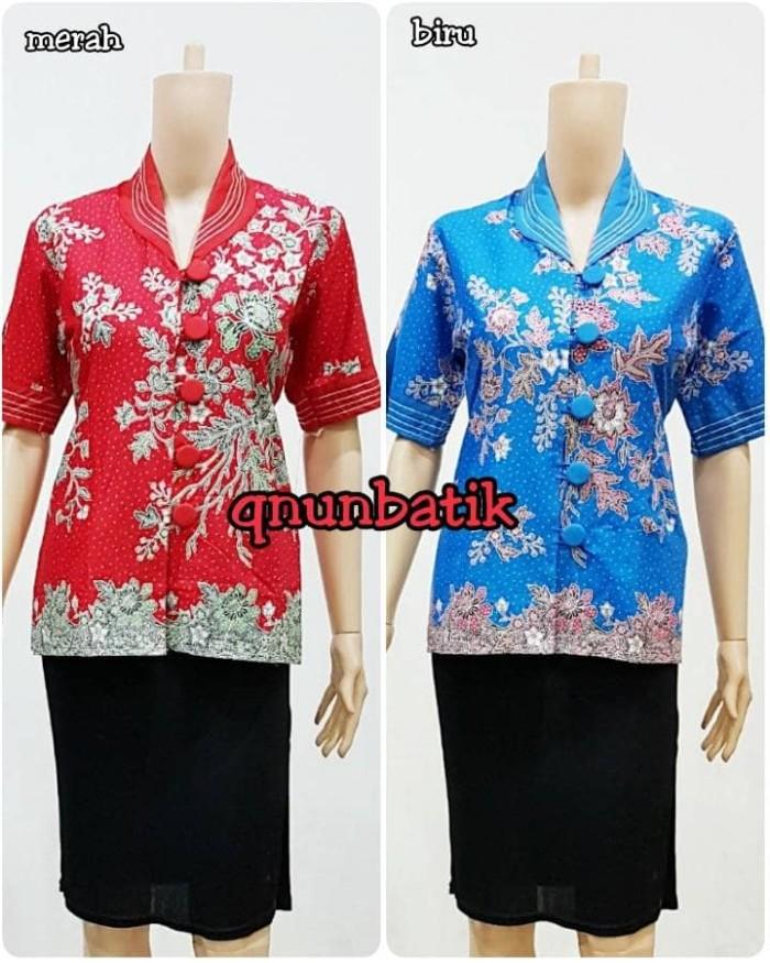 harga Blus blouse atasan batik jumbo xxl-xxxlwanita daffa melati dsr warna Tokopedia.com