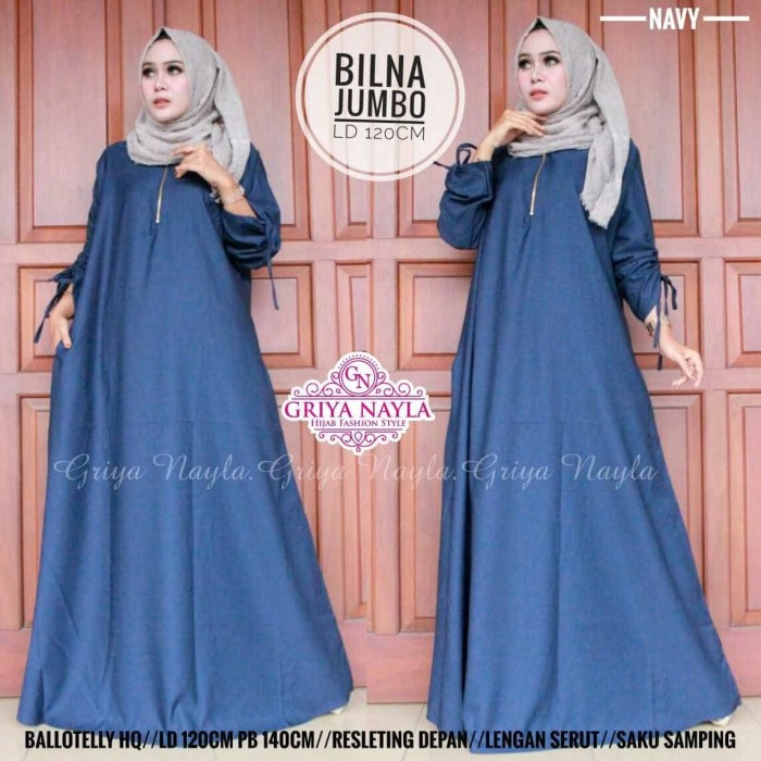 harga Murah bilna maxi dress gamis muslim katun balotelly premium jumbo size Tokopedia.com