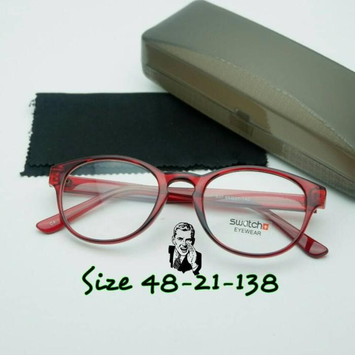 Kacamata swatch 537 cokelat frame kacamata minus 891ee4d49a