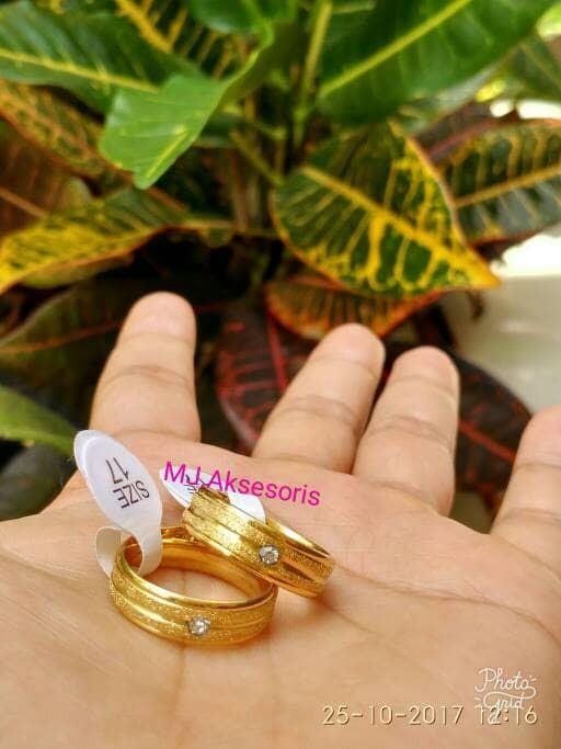 Foto Produk Cincin Couple Gold Cincin Titanium Gold Cincin Tunangan Cincin Kawin dari MJ.Aksesoris