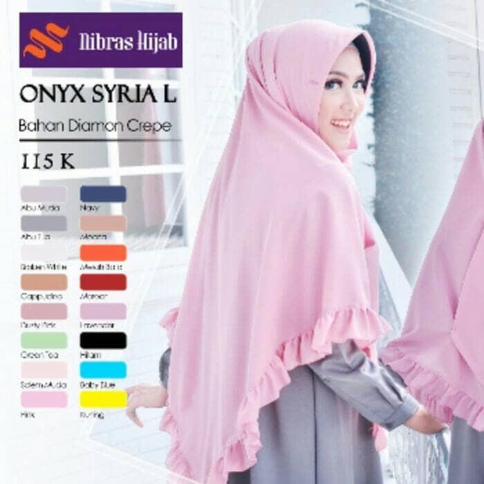 Jual Hijab Nibras Onyx Syria L Lunar Gamis Tokopedia