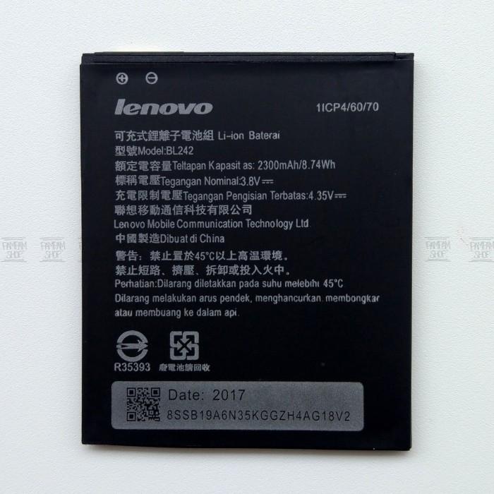 Jual Baterai Handphone Lenovo A6000 Plus Bl242 Original Bl 242
