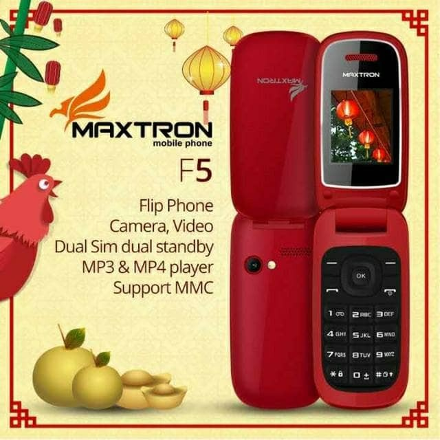 harga Hp maxtron f-5 / f 5 / f5 flip phone dual sim garansi 1 tahun Tokopedia.com