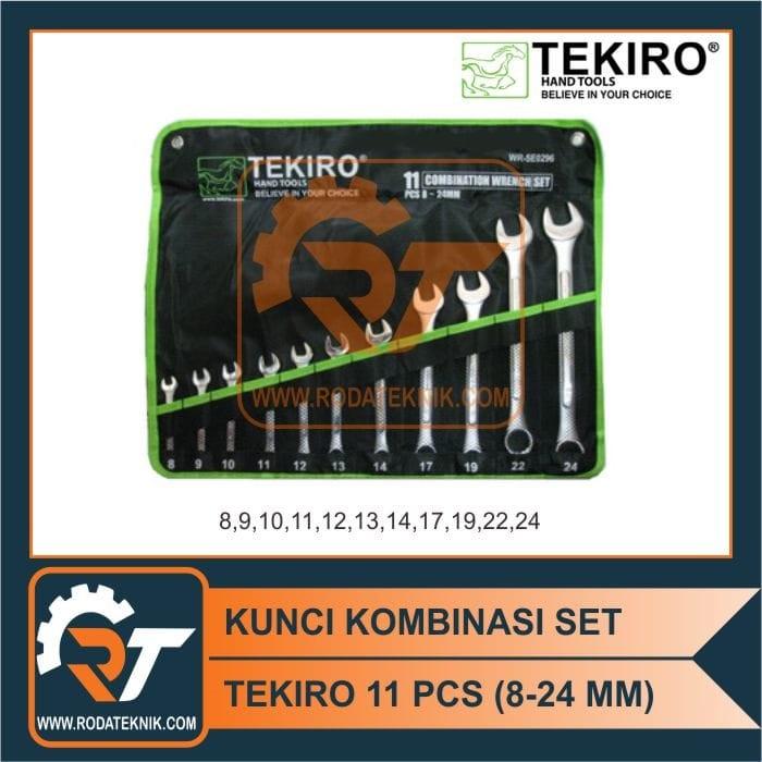 TERMURAH - TEKIRO KUNCI RING PAS SET 11 PCS 8-24 MM KUNCI KOMBINASI