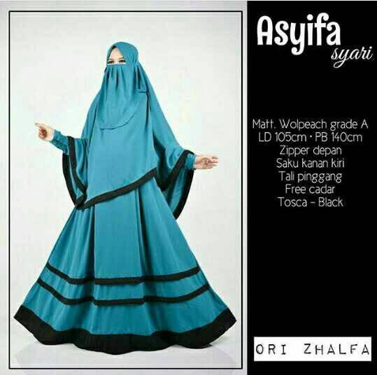 Jual Asyifa Syari Muslim Wanita Bercadar Kota Surakarta