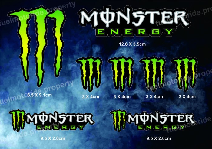 harga Sticker monster energy set utk custom helm motor arai shoei cbr ninja Tokopedia.com