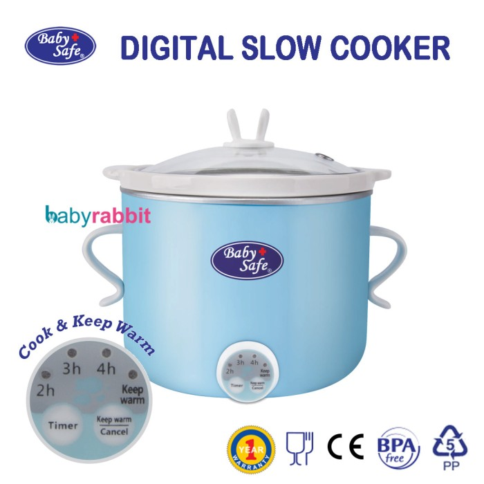 BABY SAFE Digital Slow Cooker LB007 Kapasitas 0.8 L