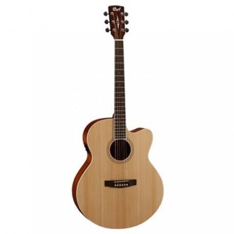 harga Cort gitar akustik elektrik cj1f - natural satin Tokopedia.com