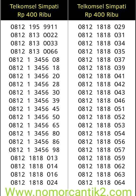 nomor cantik simpati 11 digit 0812 1818 xxx