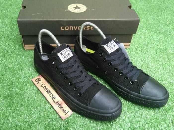 Jual sepatu sneakers Converse Classic full black hitam 70s Low ... 13303c5b45