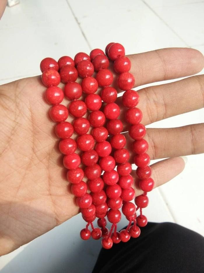 Gelang Batu Marjan, Red Coral 8 MM Original