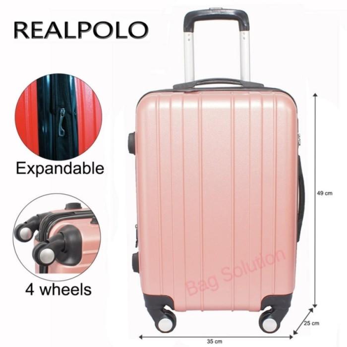 Real Polo Tas Koper Hardcase Fiber - ABS 4 Roda Putar -