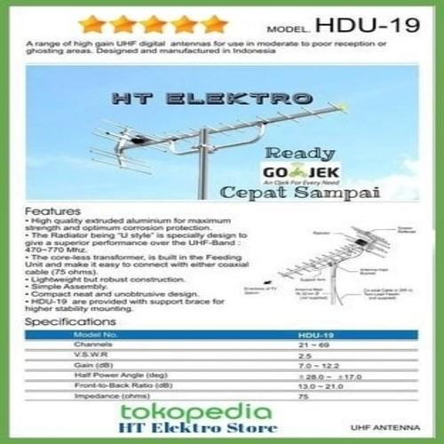 harga Paket antena tv digital yagi hd u-19 + tiang 3m + kabel 10m + konektor Tokopedia.com