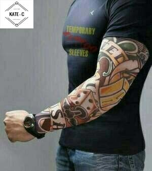 08df92179 Jual Arm Sleeve Tatoo Manset tangan tato sarung tangan motor - DKI ...