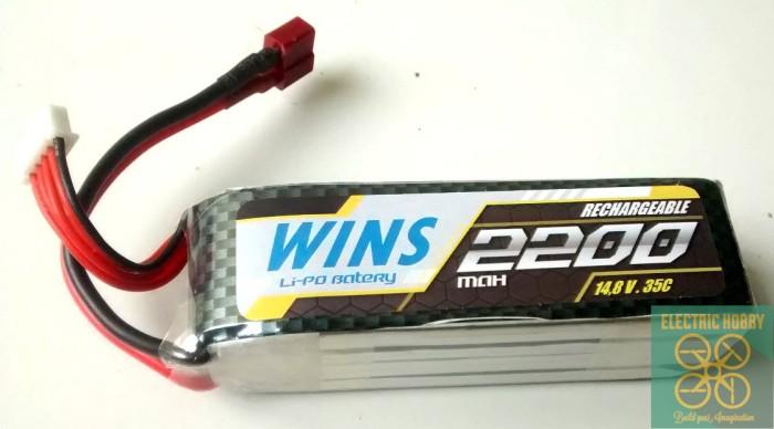 harga Lipo battery / baterai / batre 4s / 14.8v / 4 cell 2200 mah / 2200mah Tokopedia.com