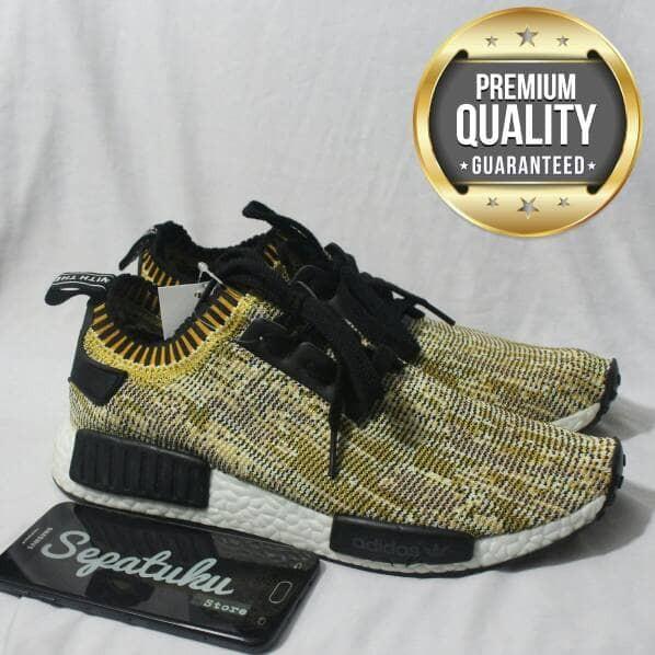 acc7f46b6 Jual Sepatu Adidas NMD R1 PK Primeknit Yellow Black Camo - Premium ...