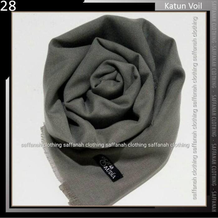 Jilbab Segiempat Rawis Saudia Ansania Square Hijab Warna Dark Grey