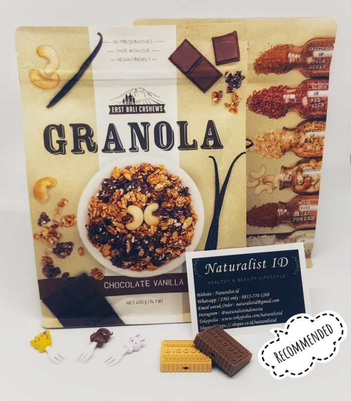 harga East Bali Cashews Granola Chocolate Vanilla Cashew 400gr Tokopedia.com