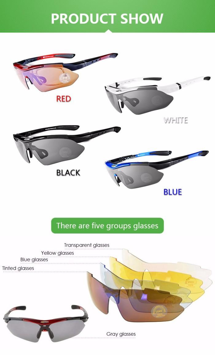Jual Rockbros Polarized Bike Sun Glasses 5 Lensa Kacamata Sepeda Sports Sunglasses Lens White 1000