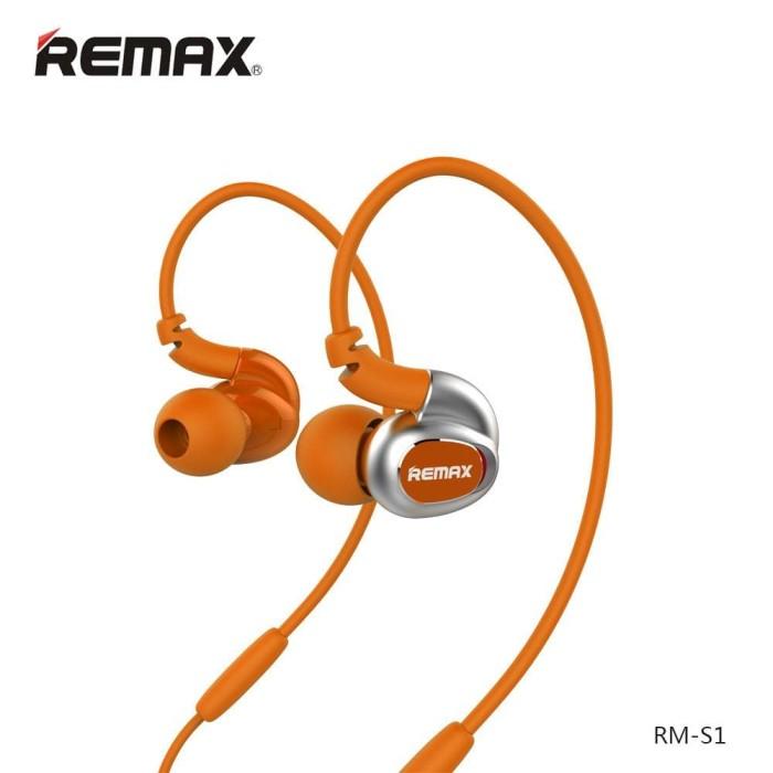 Jual Remax Sport Earphones Rm-S1 Orance Harga Promo Terbaru