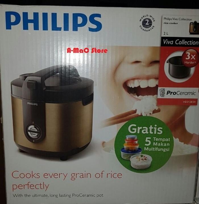 Philips HD3128 Rice Cooker Jar Pro Ceramic 2 Liter Murah