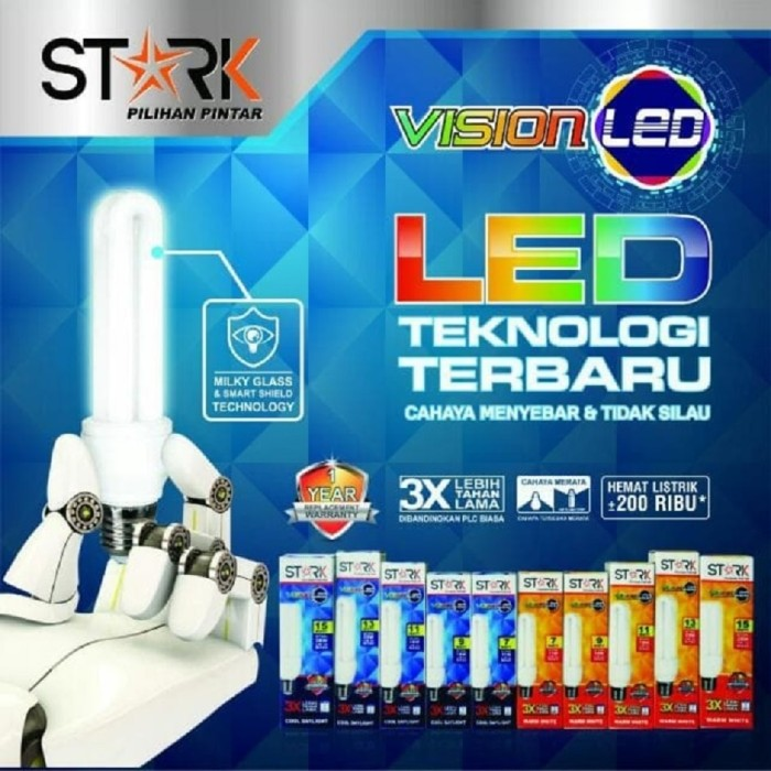 harga Lampu plc led stark vision gen1 11 watt cool daylight Tokopedia.com