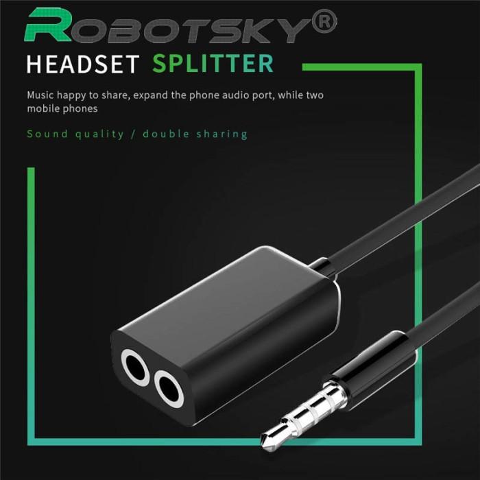 harga Robotsky 3.5mm aux splitter cable Tokopedia.com