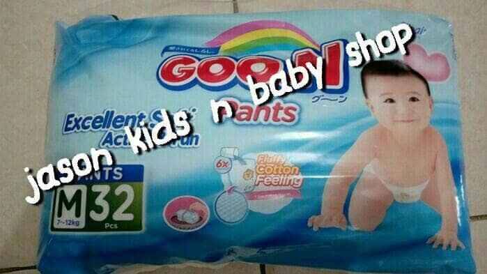 harga Pampers/diapers Bayi Goon Pants Size M Isi 34pc Tokopedia.com