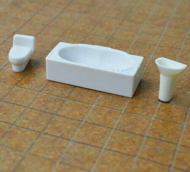 harga Miniature maket bathroom set skala 1:50 bahan maket arsitek Tokopedia.com