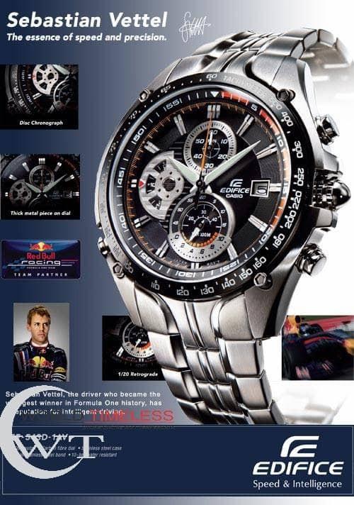 harga Jam tangan pria merk casio edifice type : ef 543 baterai Tokopedia.com