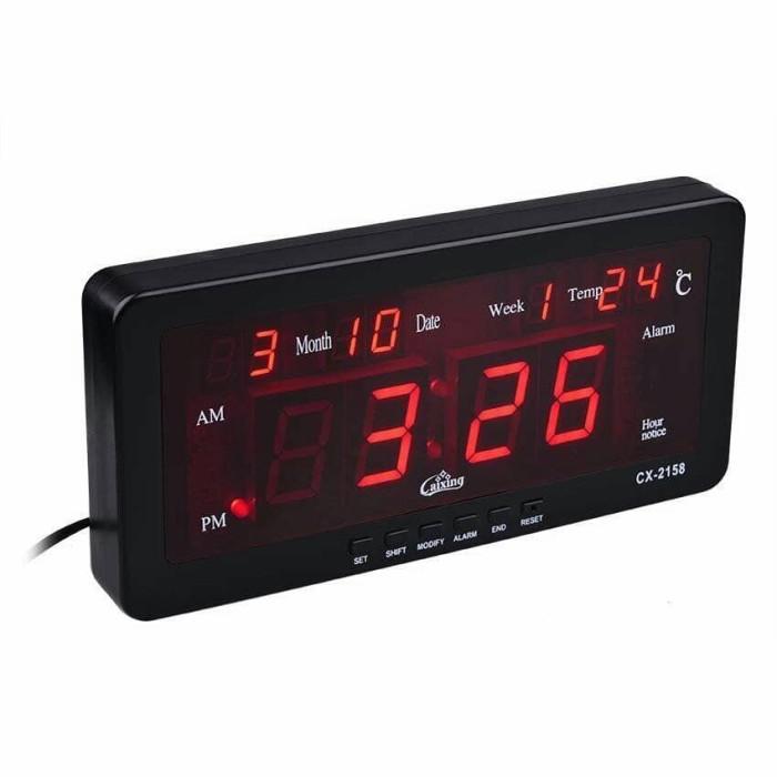 Foto Produk jam dinding LED digital caixing cx-2158 RED dari VITRONIC Online
