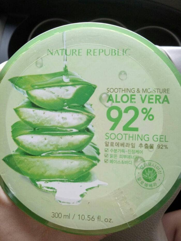 harga Nature republic aloe vera 92% soothing gel 300 Tokopedia.com